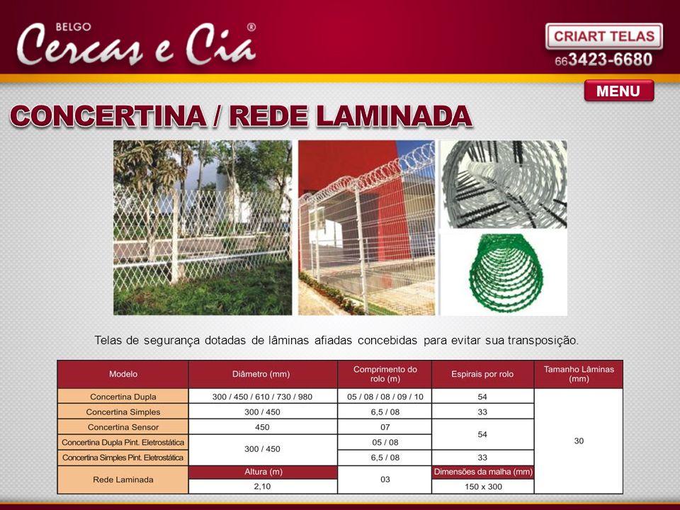 CONCERTINA / REDE LAMINADA