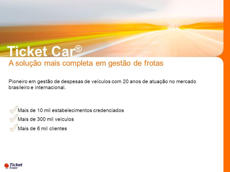 Ticket Car® A solução mais completa em gestão de frotas