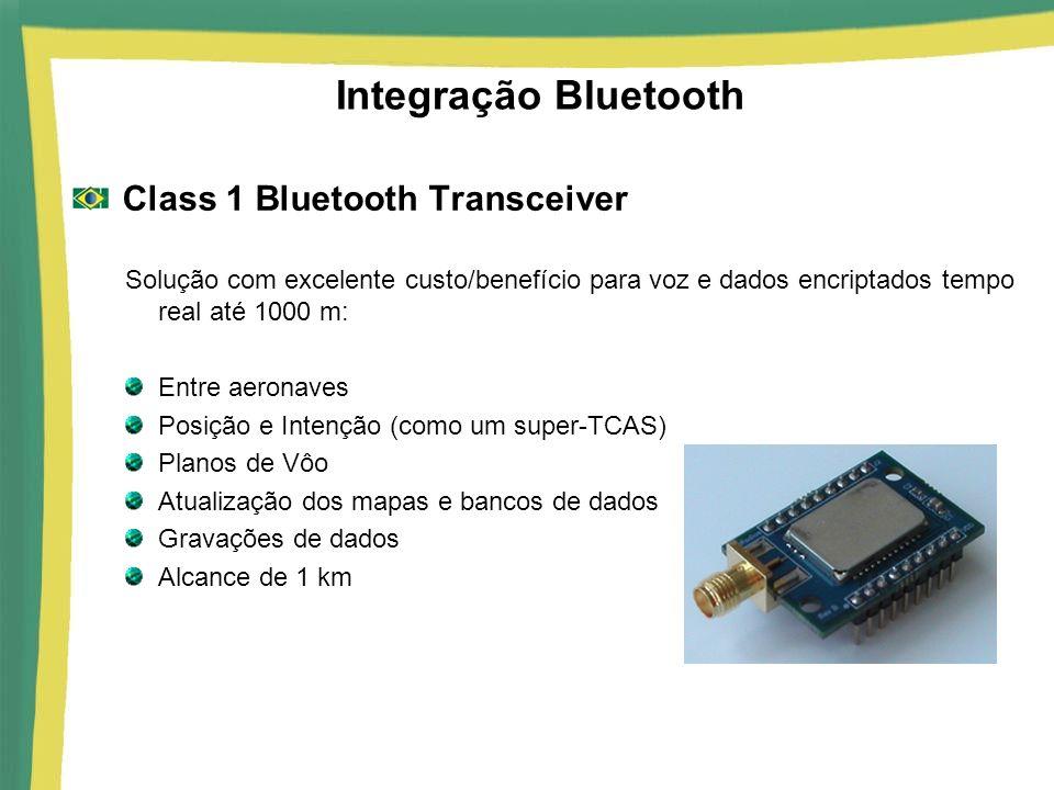 Integração Bluetooth Class 1 Bluetooth Transceiver