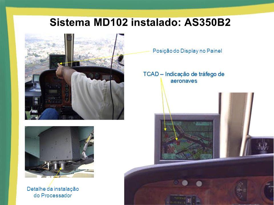 Sistema MD102 instalado: AS350B2