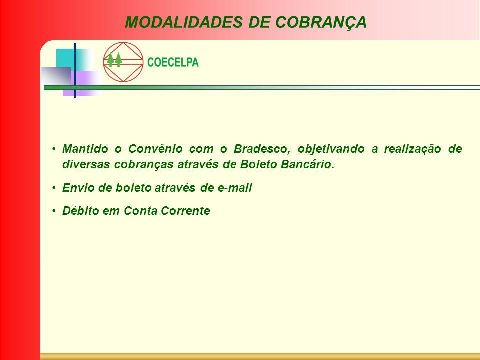 MODALIDADES DE COBRANÇA