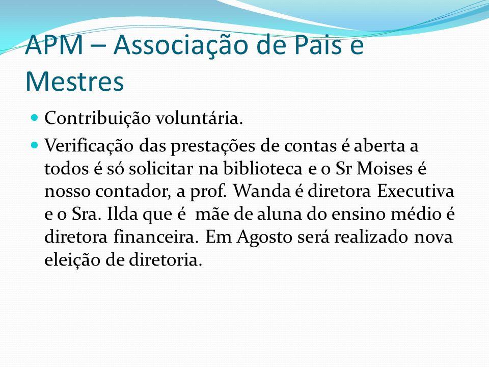 APM – Associação de Pais e Mestres