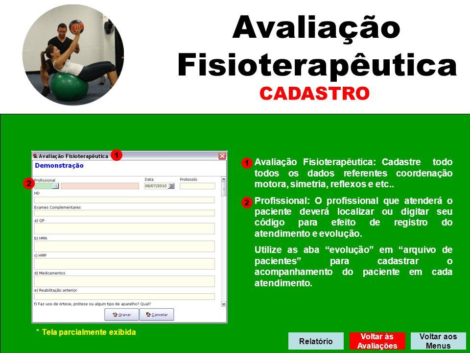 Avaliação Fisioterapêutica CADASTRO