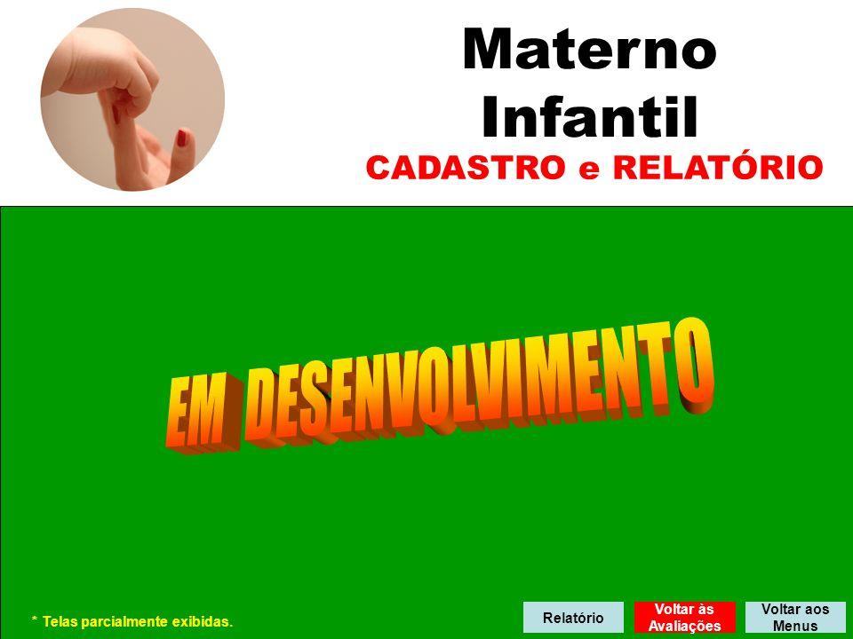 Materno Infantil EM DESENVOLVIMENTO CADASTRO e RELATÓRIO Relatório