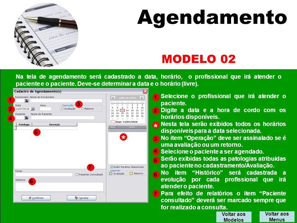 Agendamento MODELO 02.