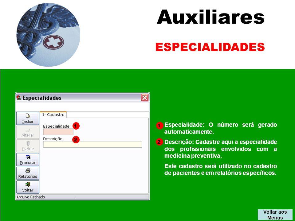 Auxiliares ESPECIALIDADES