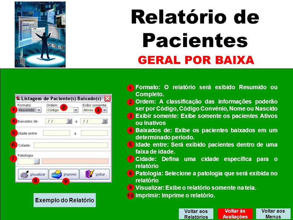 Relatório de Pacientes GERAL POR BAIXA