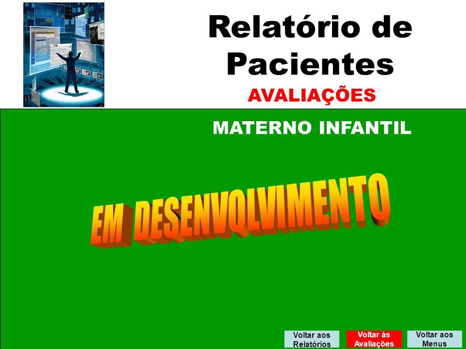 Relatório de Pacientes EM DESENVOLVIMENTO AVALIAÇÕES MATERNO INFANTIL