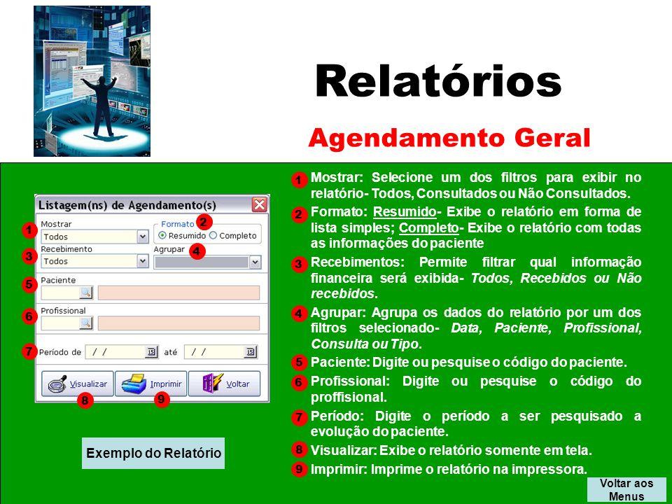 Relatórios Agendamento Geral