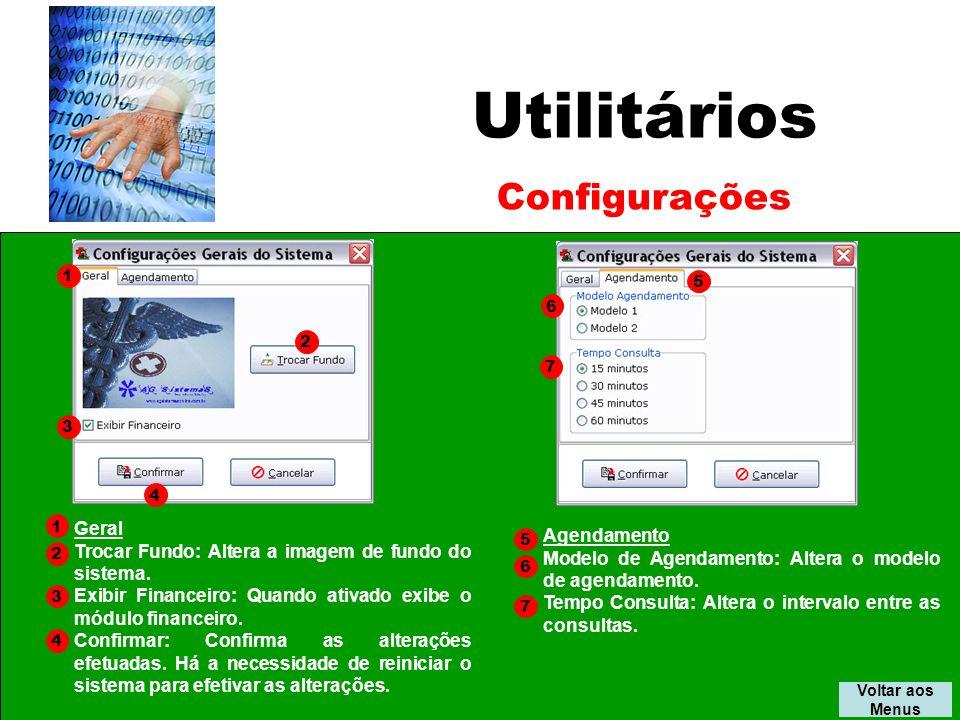 Utilitários Configurações Geral Agendamento