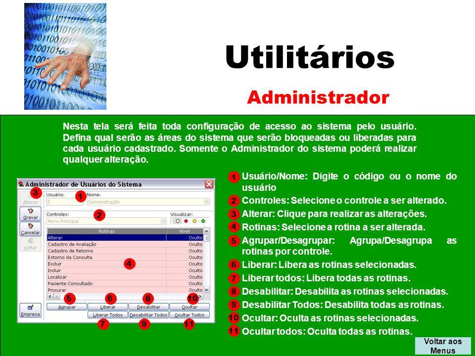 Utilitários Administrador