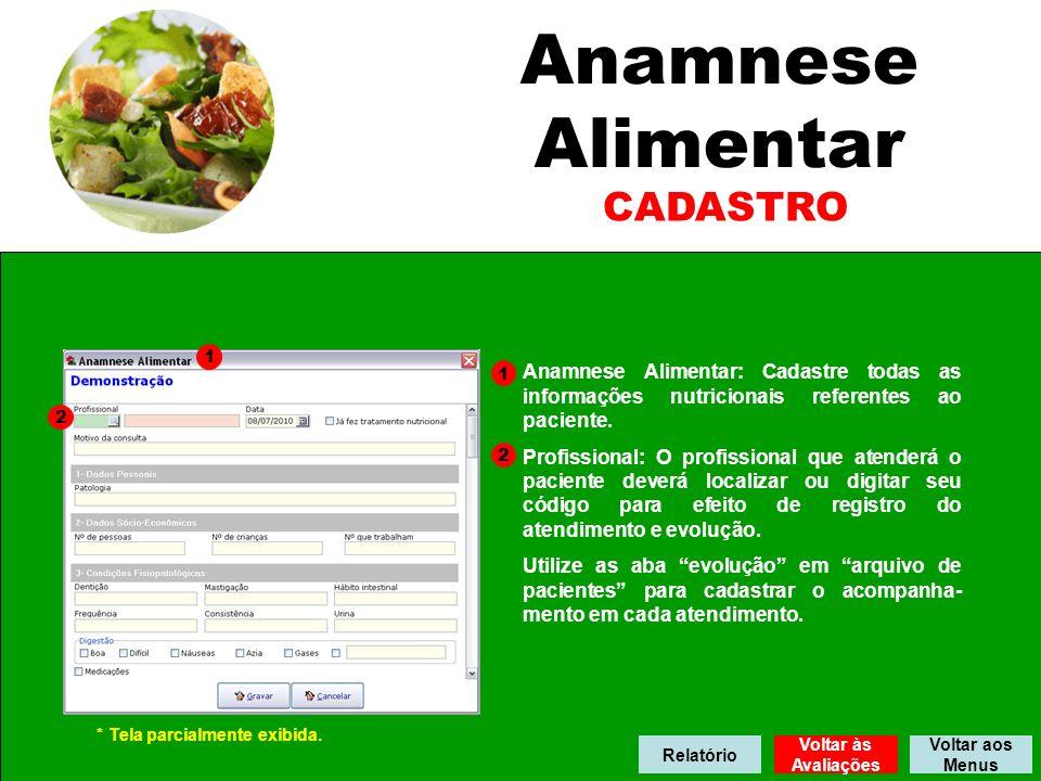 Anamnese Alimentar CADASTRO