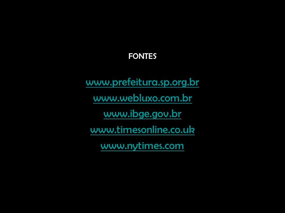 www.prefeitura.sp.org.br www.webluxo.com.br www.ibge.gov.br
