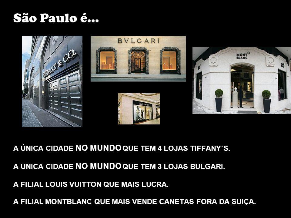São Paulo é... A ÚNICA CIDADE NO MUNDO QUE TEM 4 LOJAS TIFFANY´S.