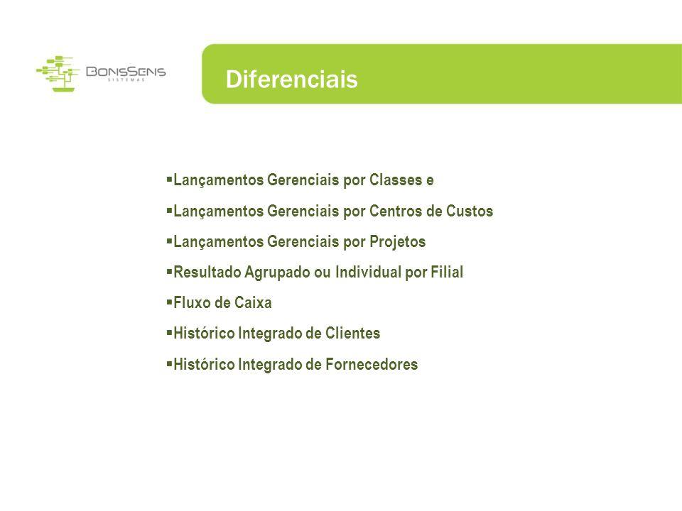Diferenciais Lançamentos Gerenciais por Classes e