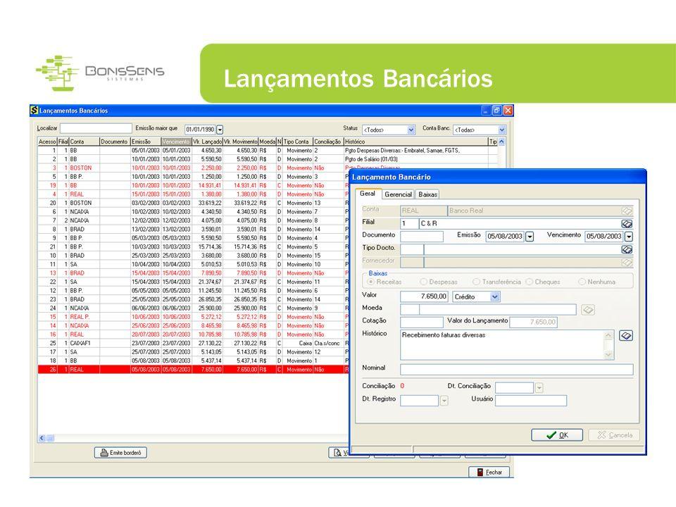 Lançamentos Bancários