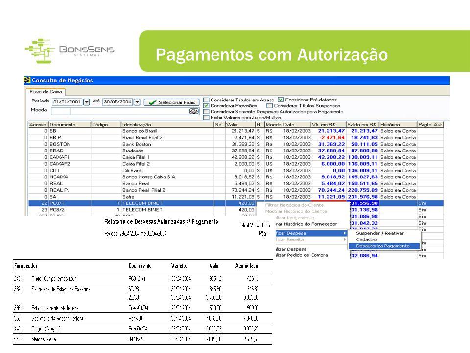 Pagamentos com Autorização