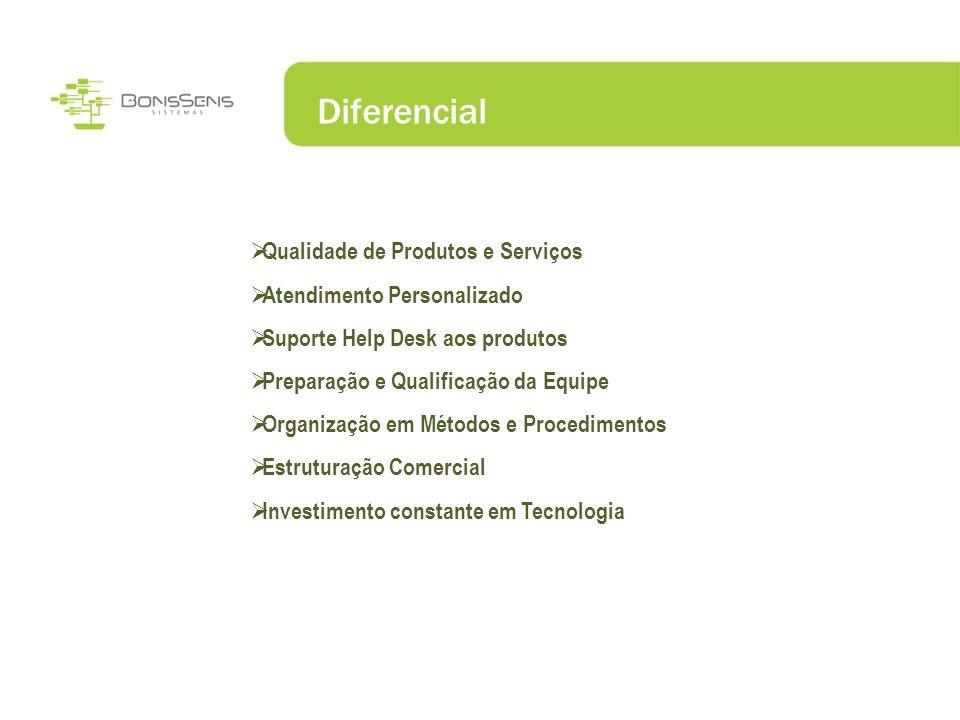 Diferencial Qualidade de Produtos e Serviços Atendimento Personalizado