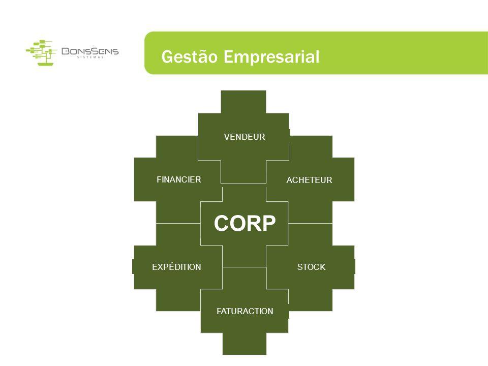 CORP Gestão Empresarial VENDEUR FINANCIER ACHETEUR EXPÉDITION STOCK