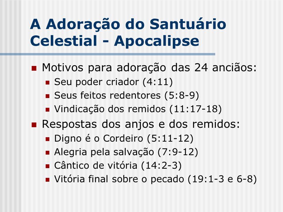 A Adoração do Santuário Celestial - Apocalipse