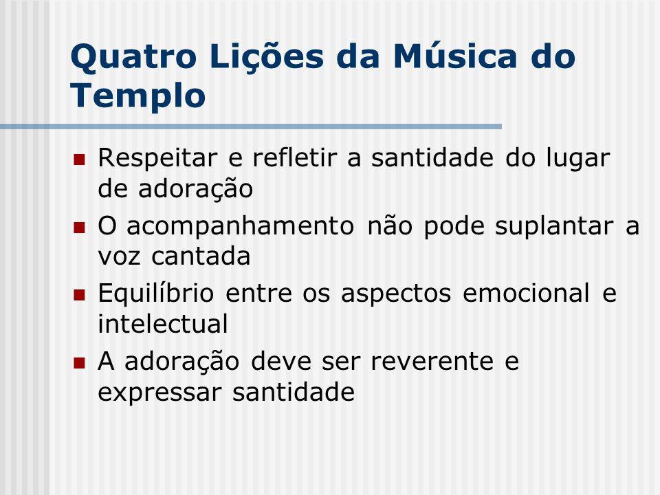 Quatro Lições da Música do Templo
