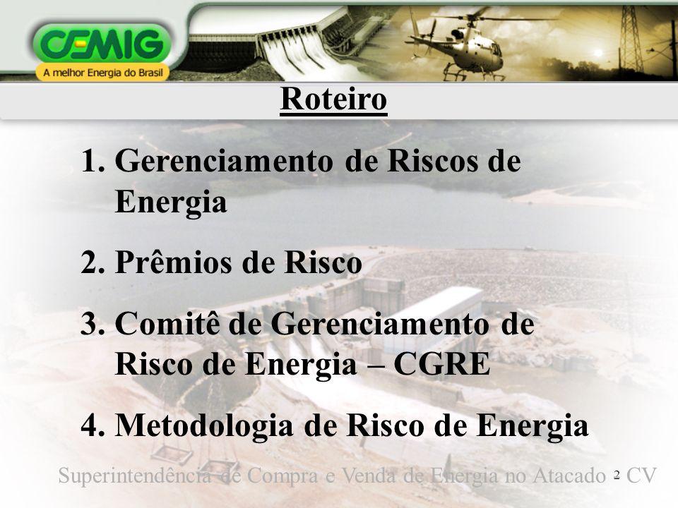 Gerenciamento de Riscos de Energia Prêmios de Risco