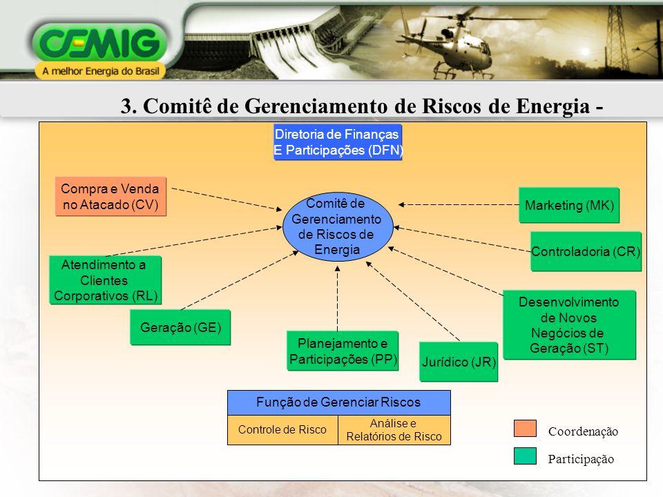 3. Comitê de Gerenciamento de Riscos de Energia - CGRE