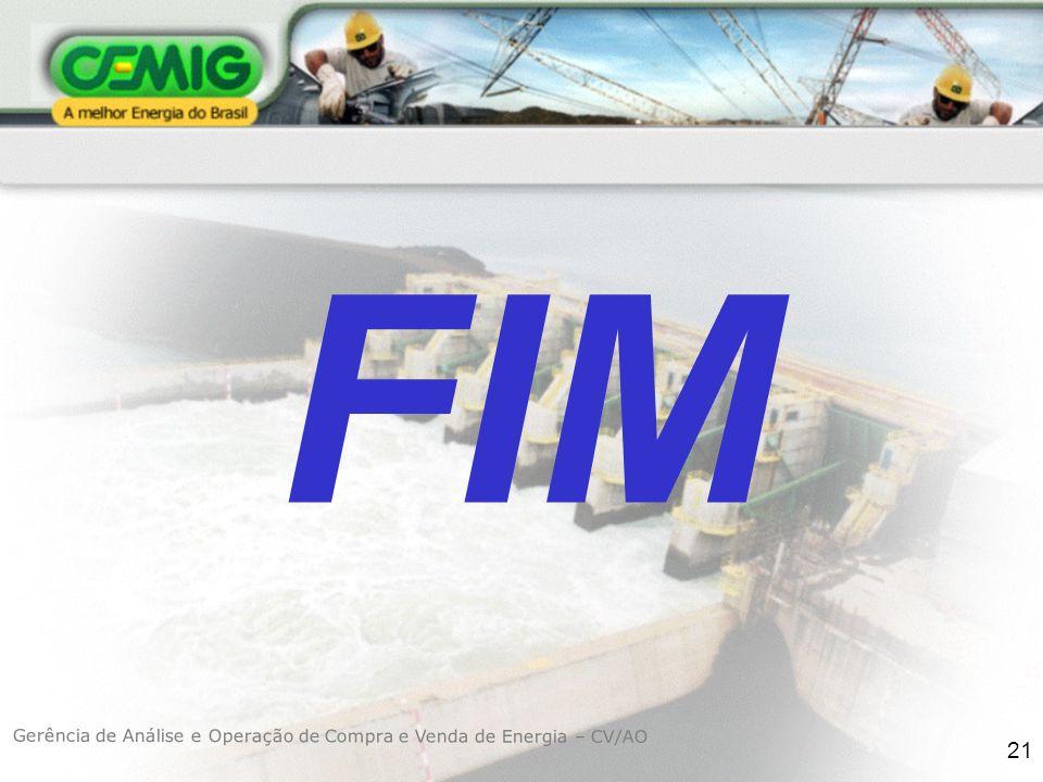 FIM Gerência de Análise e Operação de Compra e Venda de Energia – CV/AO