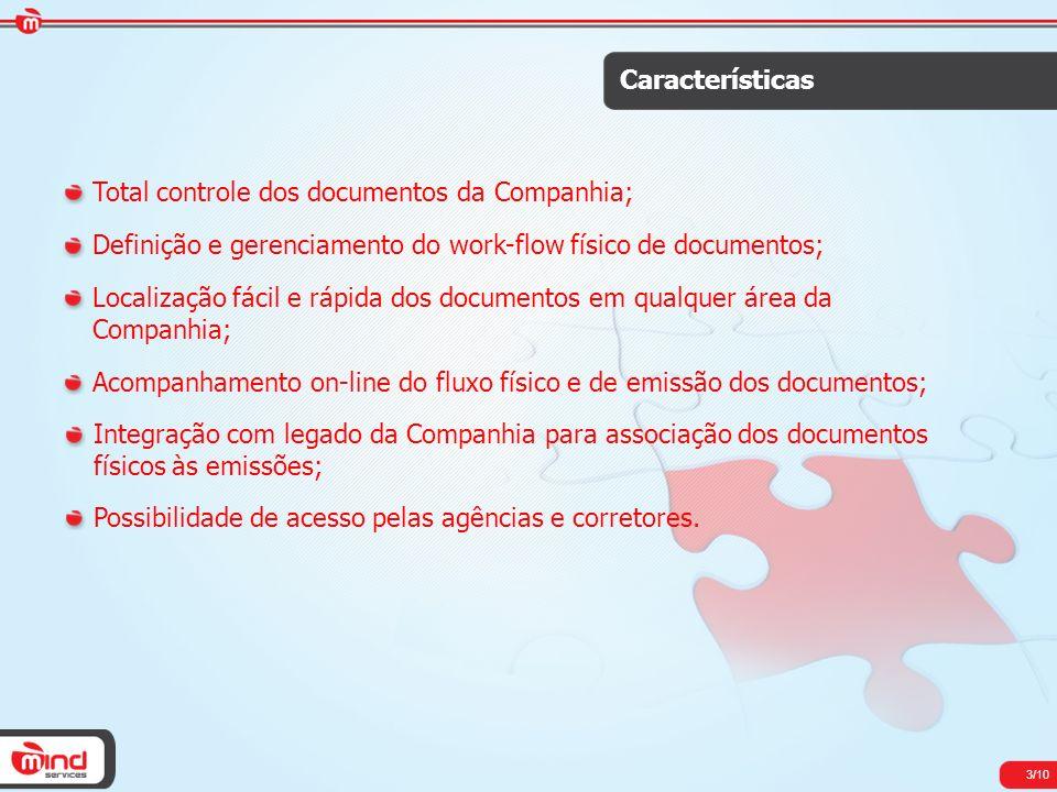 Total controle dos documentos da Companhia;