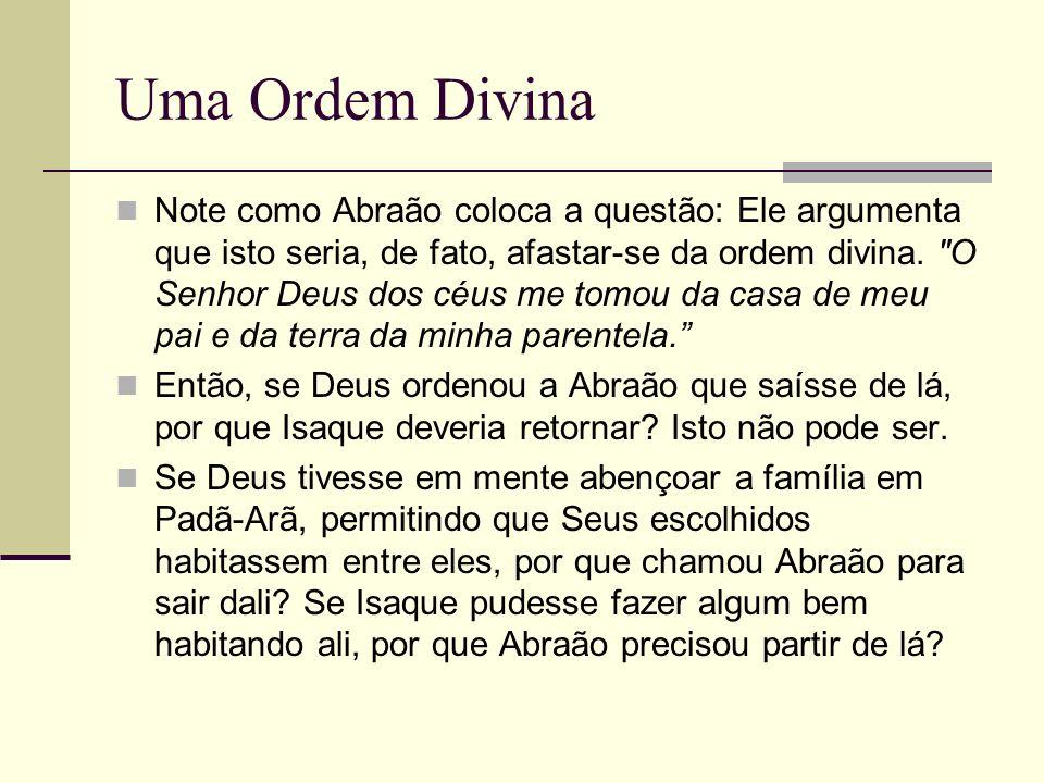 Uma Ordem Divina