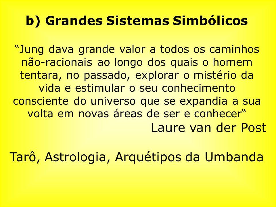 b) Grandes Sistemas Simbólicos