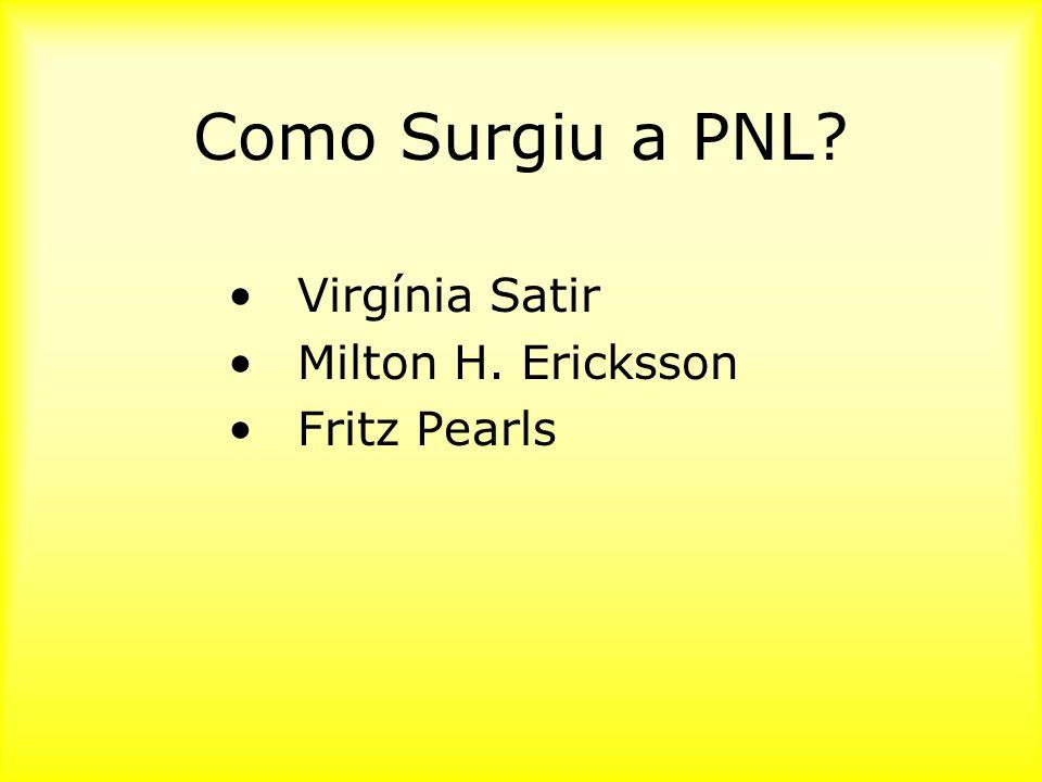 Como Surgiu a PNL Virgínia Satir Milton H. Ericksson Fritz Pearls