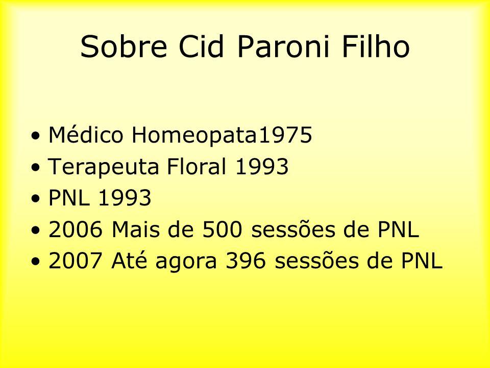Sobre Cid Paroni Filho Médico Homeopata1975 Terapeuta Floral 1993