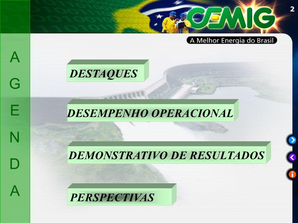 DESEMPENHO OPERACIONAL DEMONSTRATIVO DE RESULTADOS