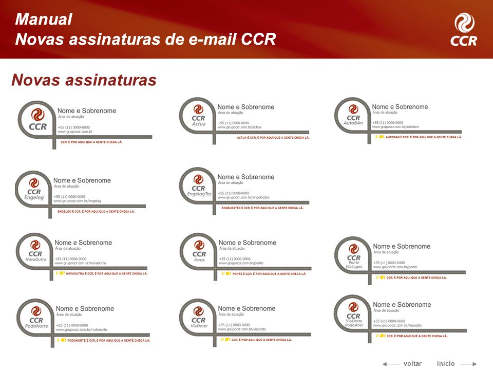 Manual Novas assinaturas de e-mail CCR Novas assinaturas