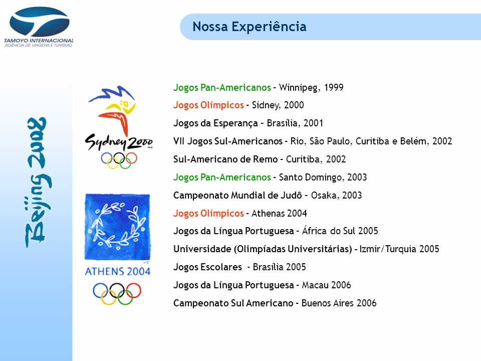 Nossa Experiência Jogos Pan-Americanos – Winnipeg, 1999