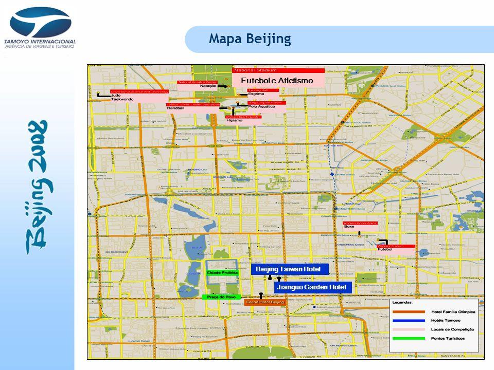 Mapa Beijing Futebol e Atletismo Beijing Taiwan Hotel