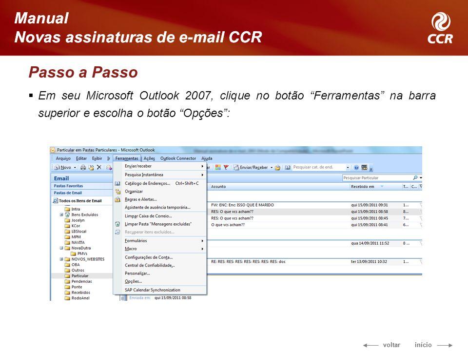 Novas assinaturas de e-mail CCR