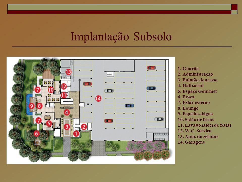 Implantação Subsolo