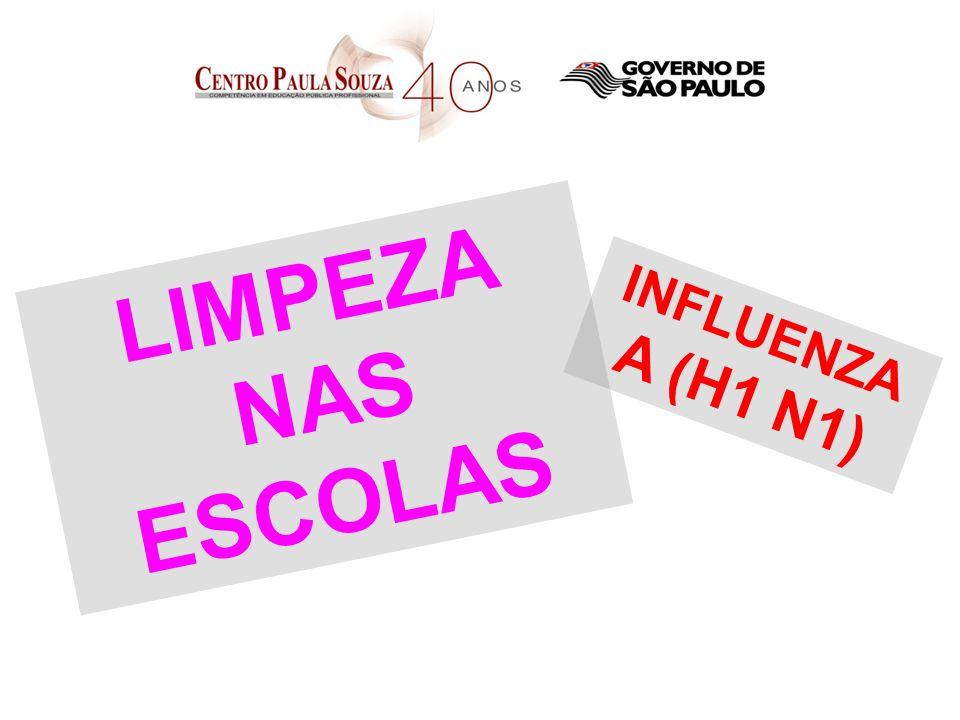 LIMPEZA NAS ESCOLAS INFLUENZA A (H1 N1)