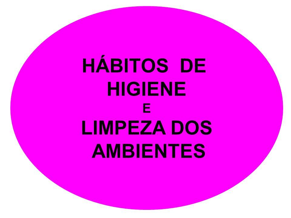 HÁBITOS DE HIGIENE LIMPEZA DOS AMBIENTES
