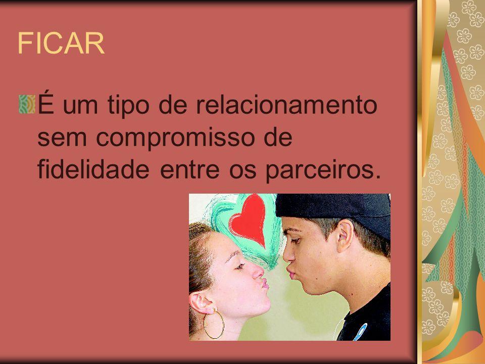 FICAR É um tipo de relacionamento sem compromisso de fidelidade entre os parceiros.