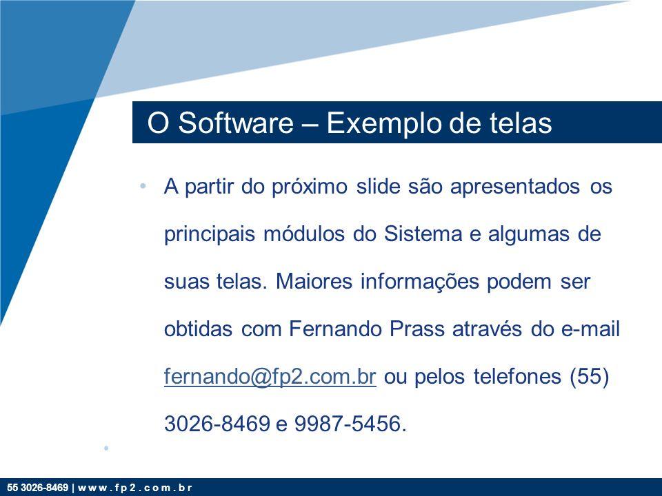 O Software – Exemplo de telas
