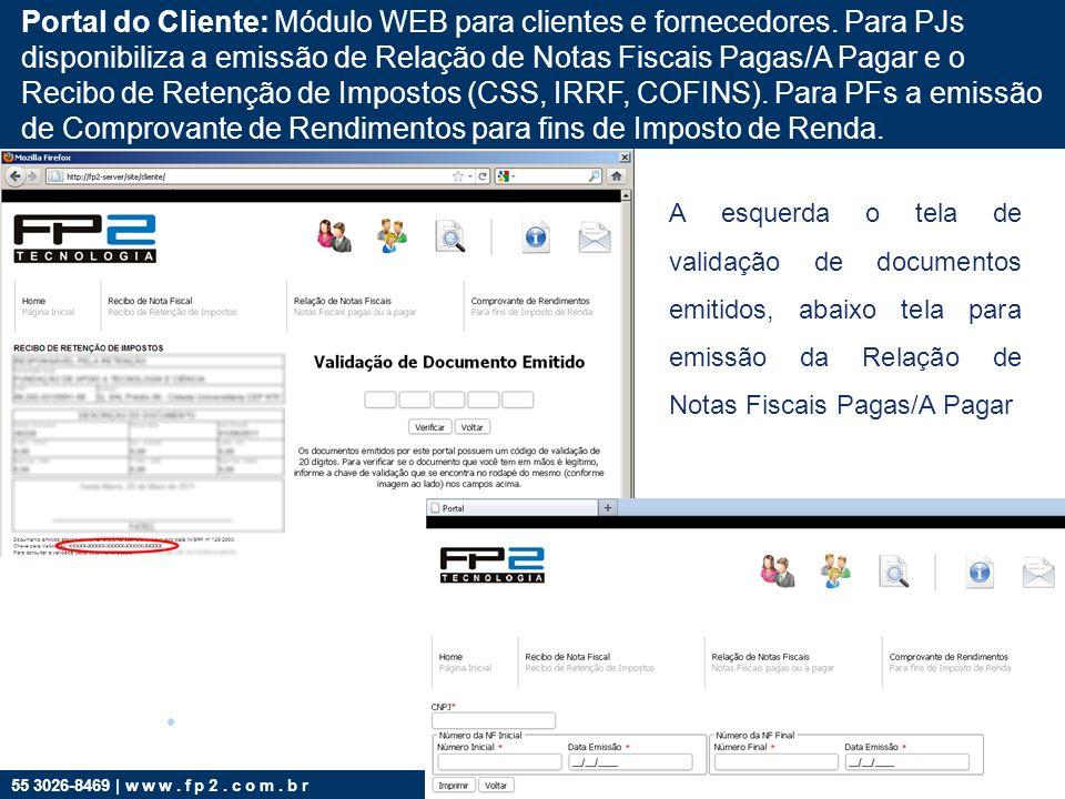 Portal do Cliente: Módulo WEB para clientes e fornecedores
