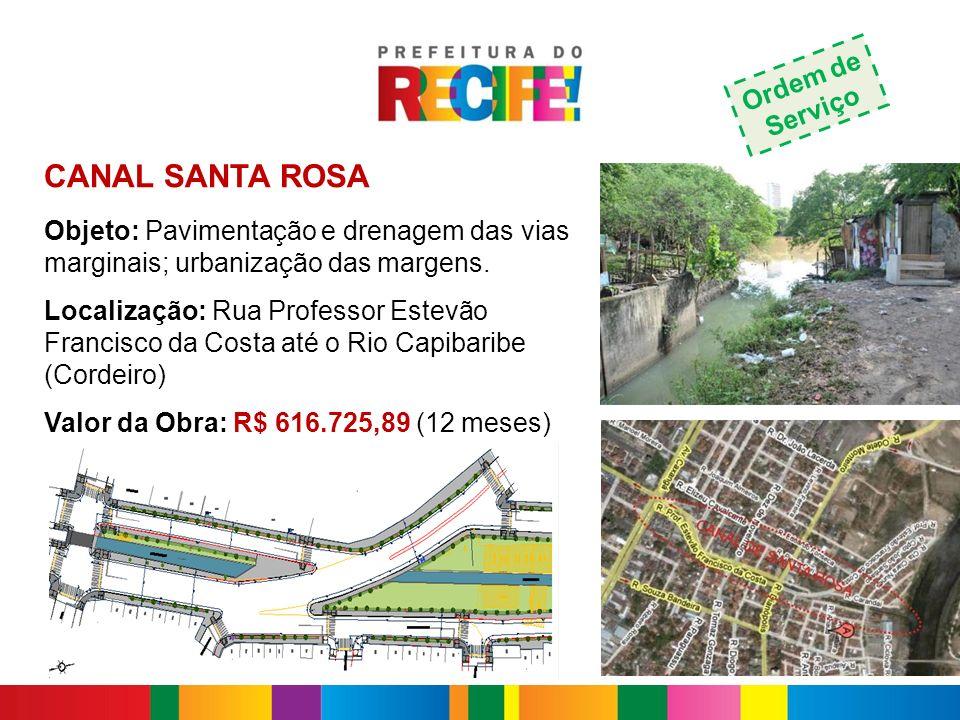 CANAL SANTA ROSA Ordem de Serviço