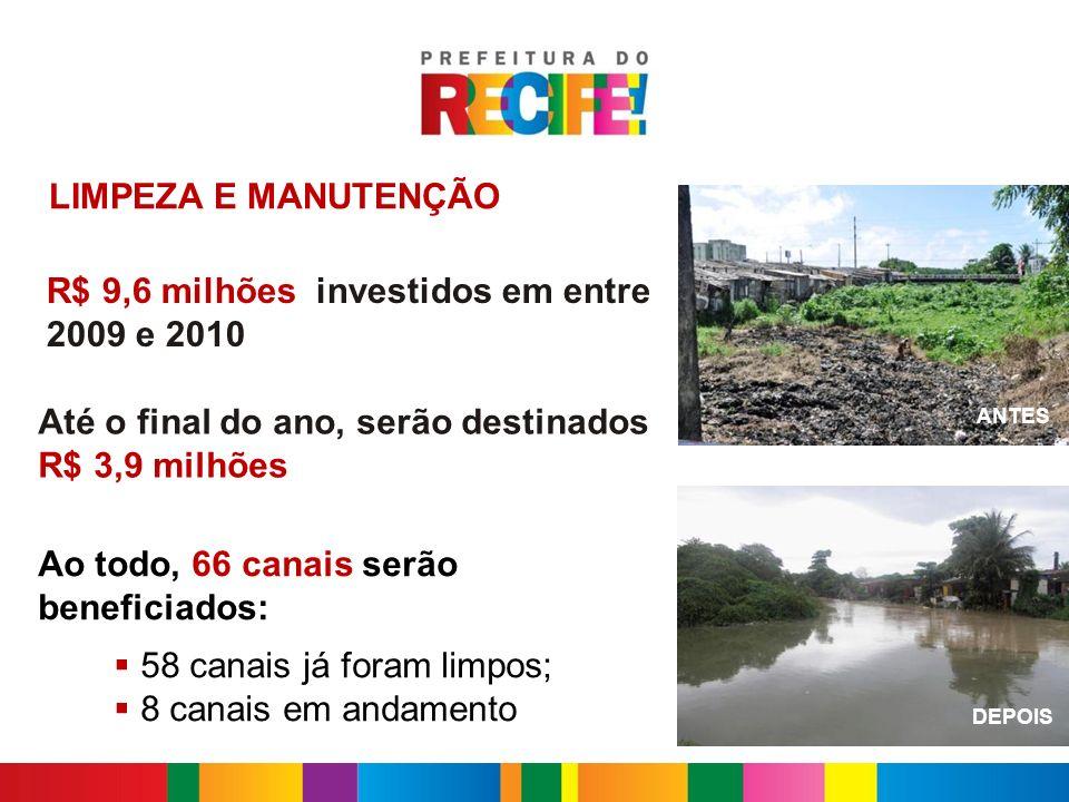 R$ 9,6 milhões investidos em entre 2009 e 2010