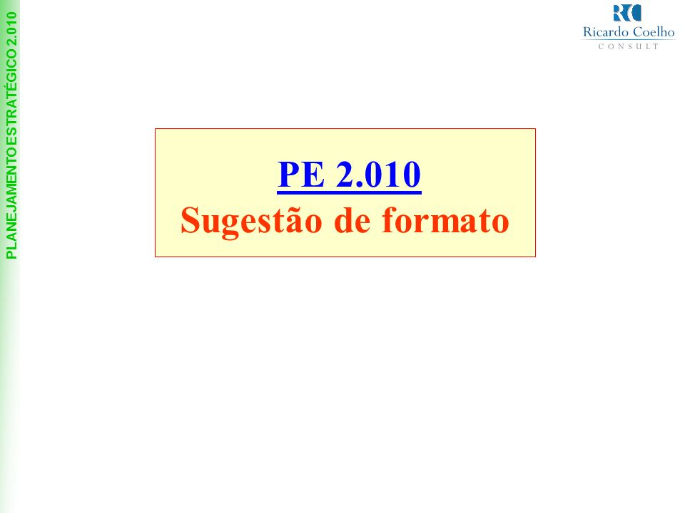 PE 2.010 Sugestão de formato