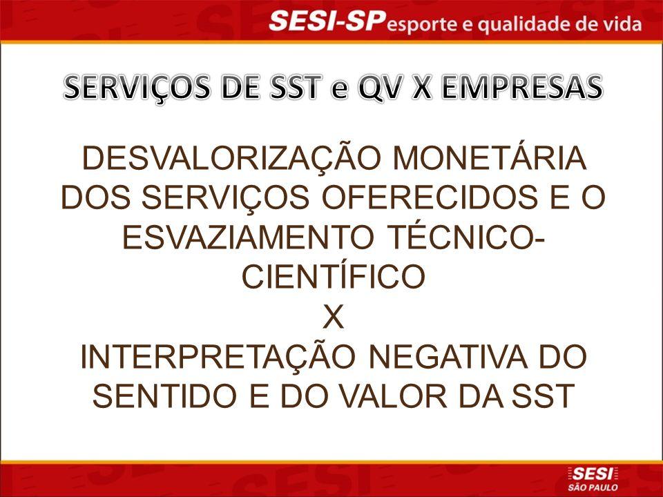 SERVIÇOS DE SST e QV X EMPRESAS