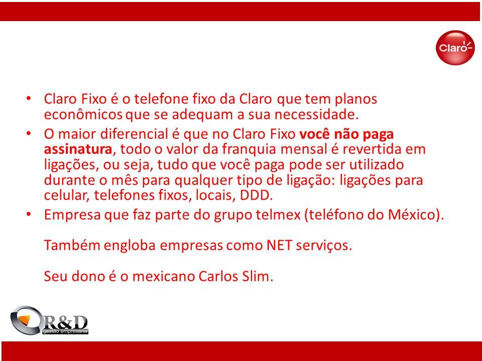 Claro Fixo é o telefone fixo da Claro que tem planos econômicos que se adequam a sua necessidade.