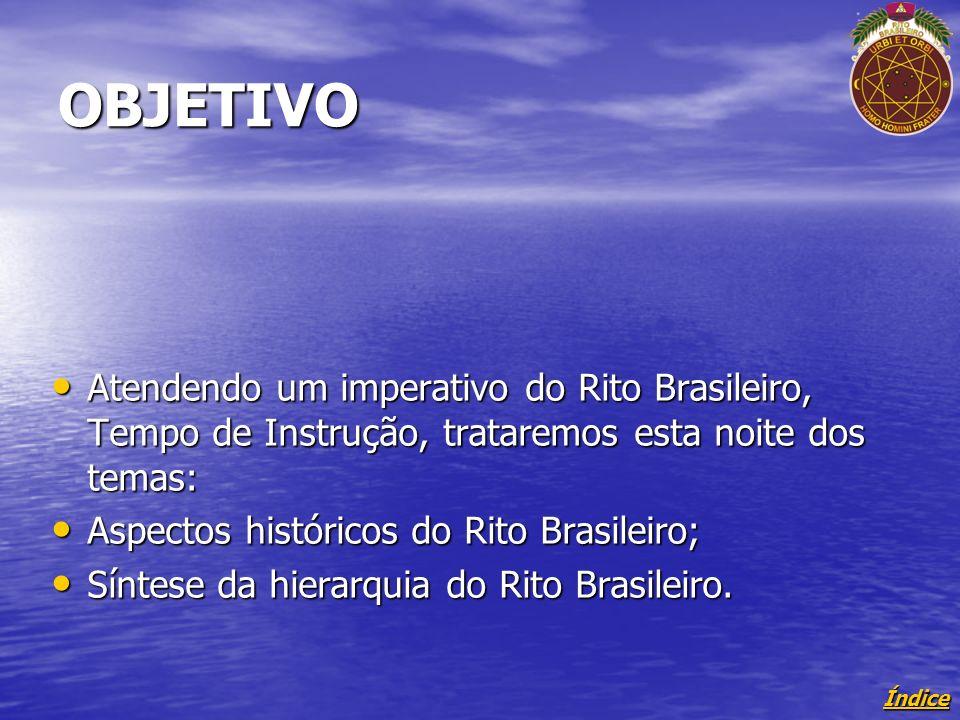 OBJETIVO Atendendo um imperativo do Rito Brasileiro, Tempo de Instrução, trataremos esta noite dos temas: